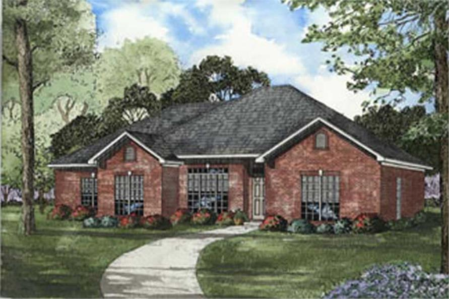 4-Bedroom, 1841 Sq Ft Southern House Plan - 153-1347 - Front Exterior