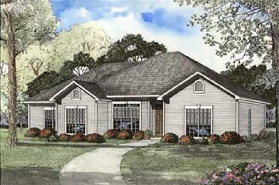 Home Plan Rendering of this 4-Bedroom,1841 Sq Ft Plan -153-1347