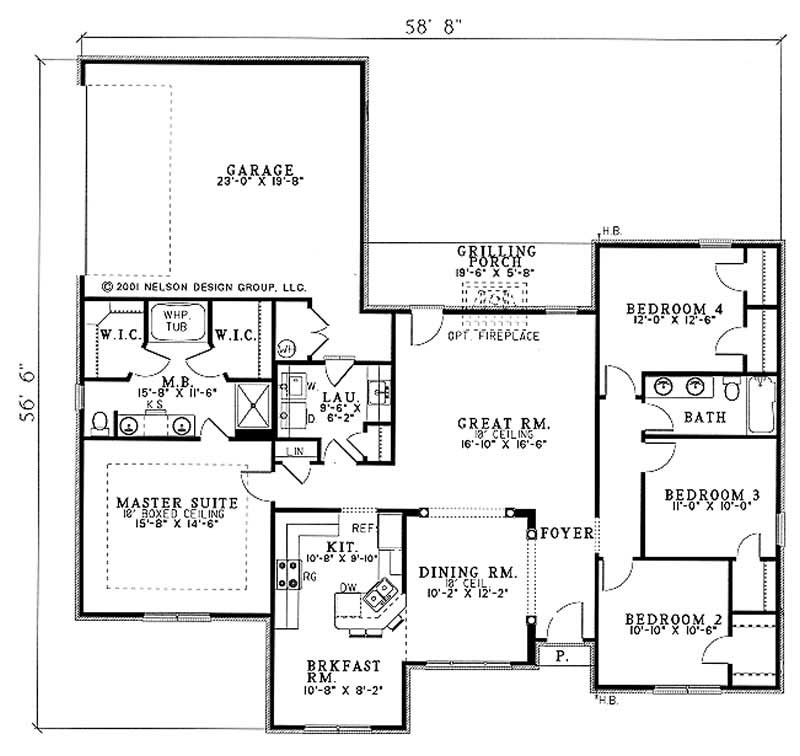Southern Traditional House Plans Home Design Ndg516 3794
