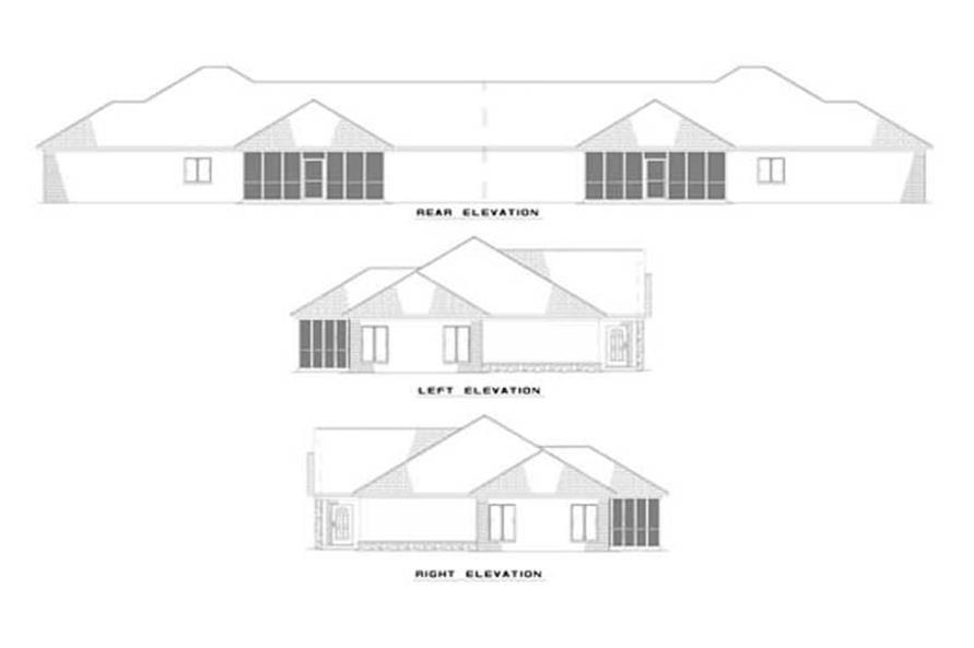 EXTERIOR ELEVATIONS of this 6-Bedroom,3740 Sq Ft Plan -3740
