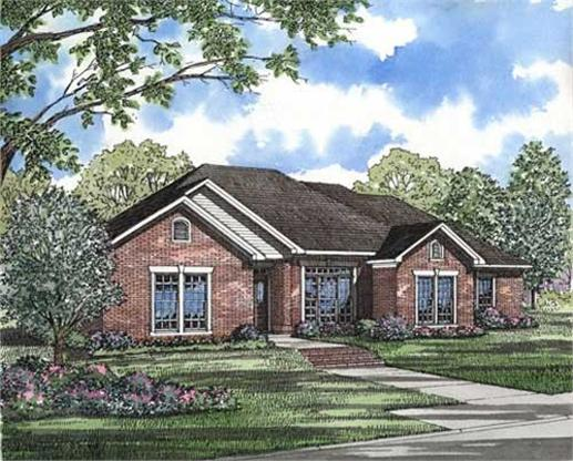 This image shows the colored rendering of these Country Homeplans.