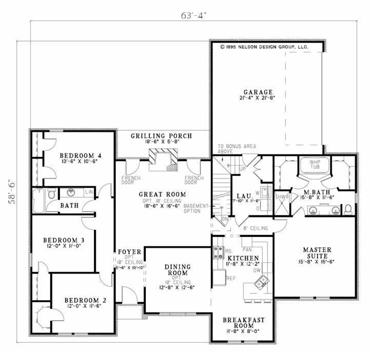 Country House Plans Home Plans Ndg 154