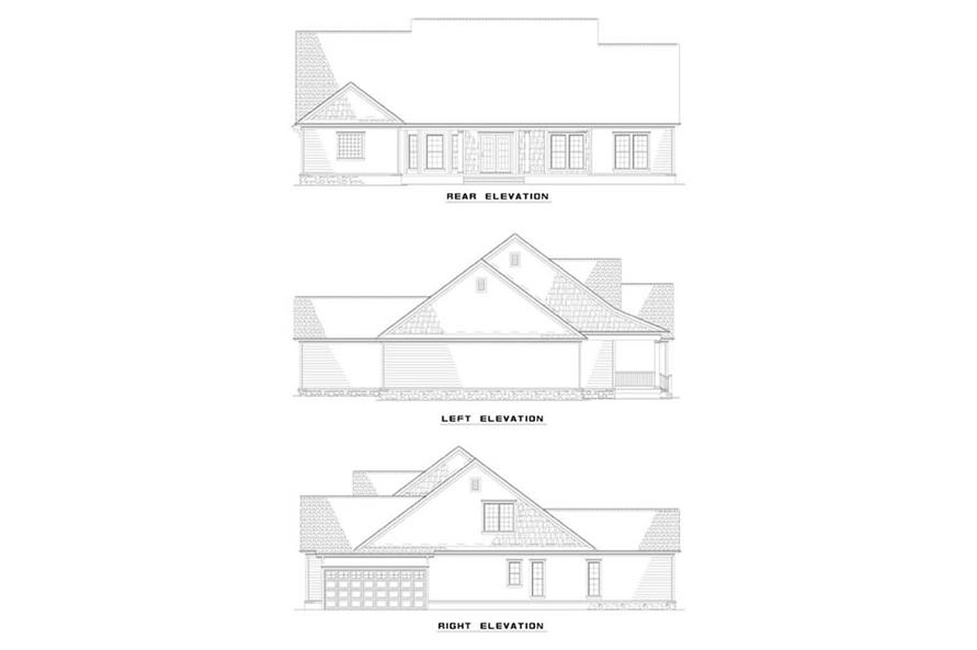 EXTERIOR ELEVATIONS of this 4-Bedroom,2261 Sq Ft Plan -2261