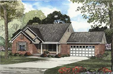 3-Bedroom, 1250 Sq Ft Country Home Plan - 153-1352 - Main Exterior