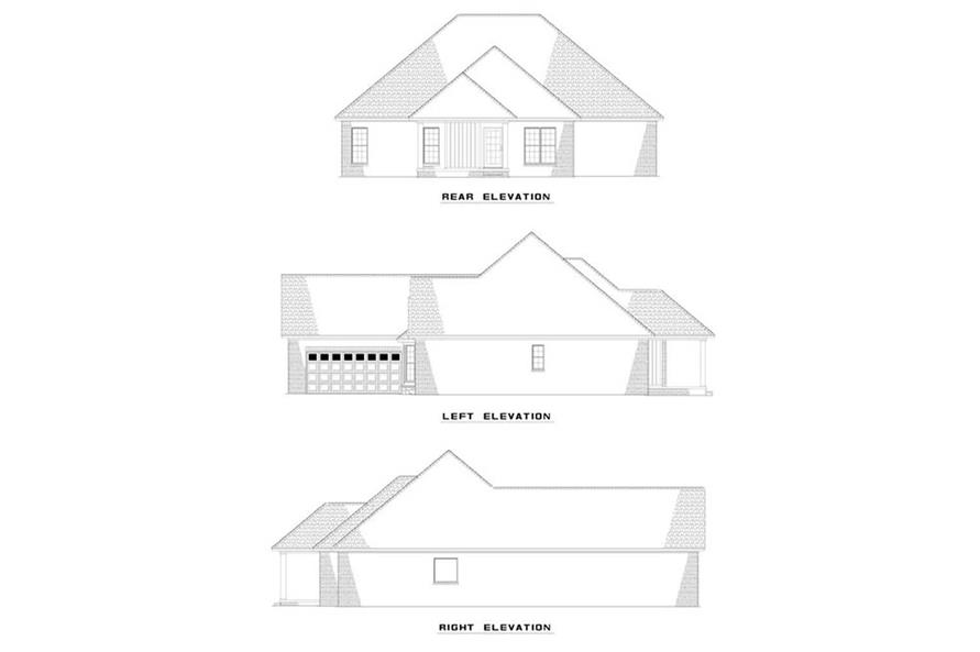 EXTERIOR ELEVATIONS of this 3-Bedroom,1882 Sq Ft Plan -1882
