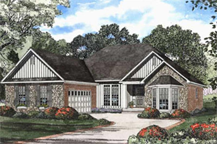 3-Bedroom, 1882 Sq Ft Country House Plan - 153-1353 - Front Exterior