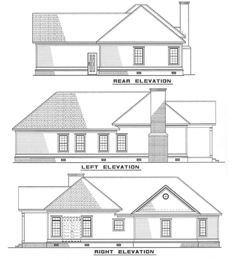 Southern Traditional House Plans Home Design Ndg 271 3330