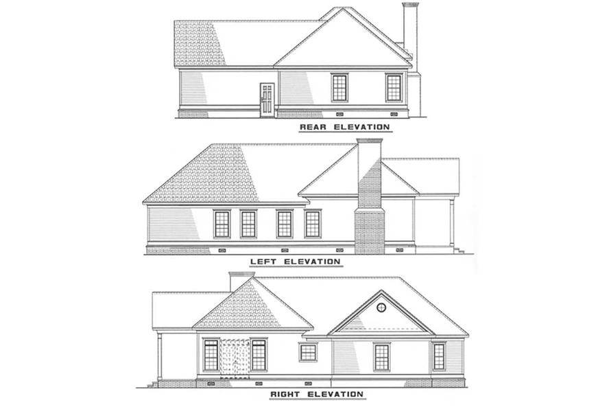 Other Elevations of this 3-Bedroom,1404 Sq Ft Plan -1404