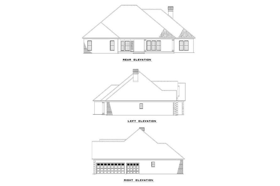 EXTERIOR ELEVATIONS of this 3-Bedroom,2534 Sq Ft Plan -2534