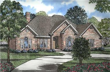 3-Bedroom, 2534 Sq Ft Southern House Plan - 153-1355 - Front Exterior