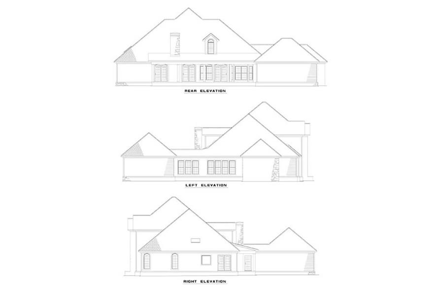 EXTERIOR ELEVATIONS of this 4-Bedroom,3818 Sq Ft Plan -3818