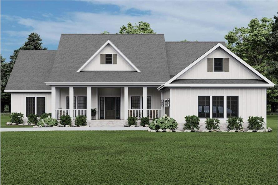 Front View of this 4-Bedroom,2354 Sq Ft Plan -153-1357