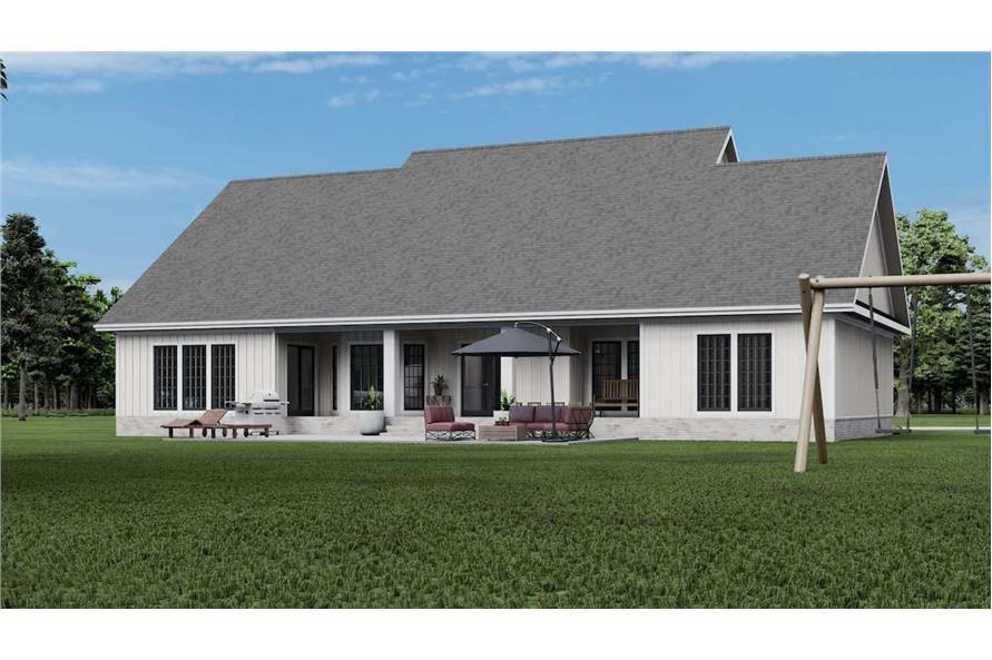 Rear View of this 4-Bedroom,2354 Sq Ft Plan -153-1357
