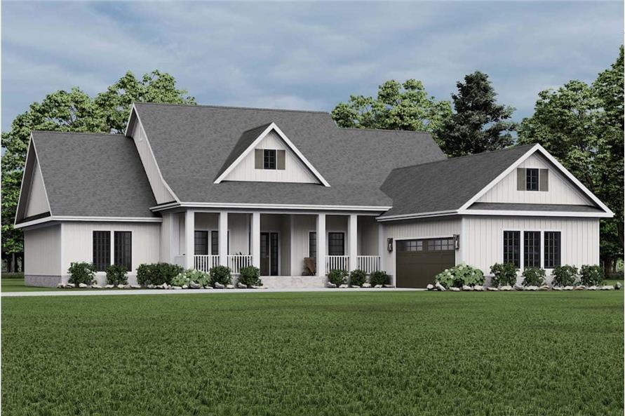 4-Bedroom, 2354 Sq Ft Modern Farmhouse Home - Plan #153-1357 - Main Exterior