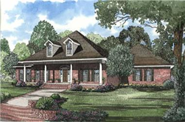 4-Bedroom, 3474 Sq Ft Country Home Plan - 153-1358 - Main Exterior