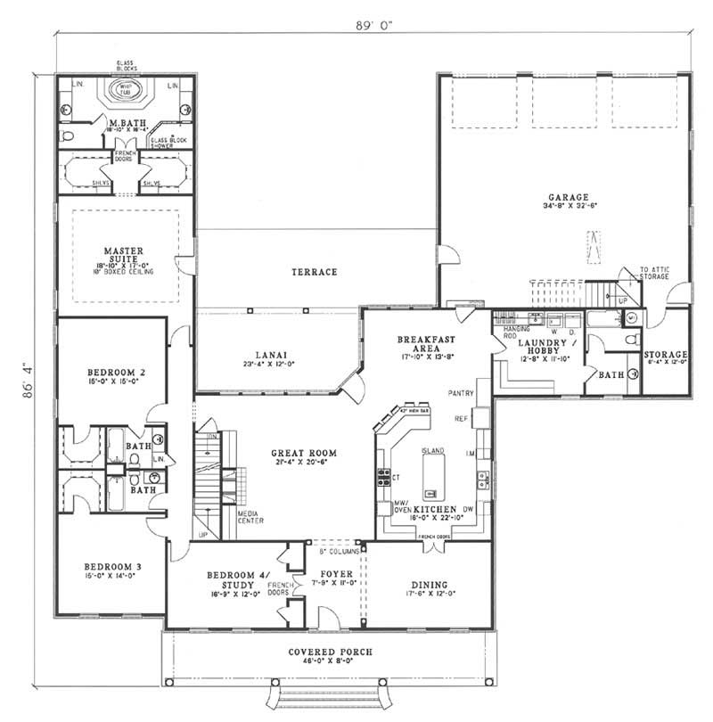 Country southern traditional house plans home design Circle house plans