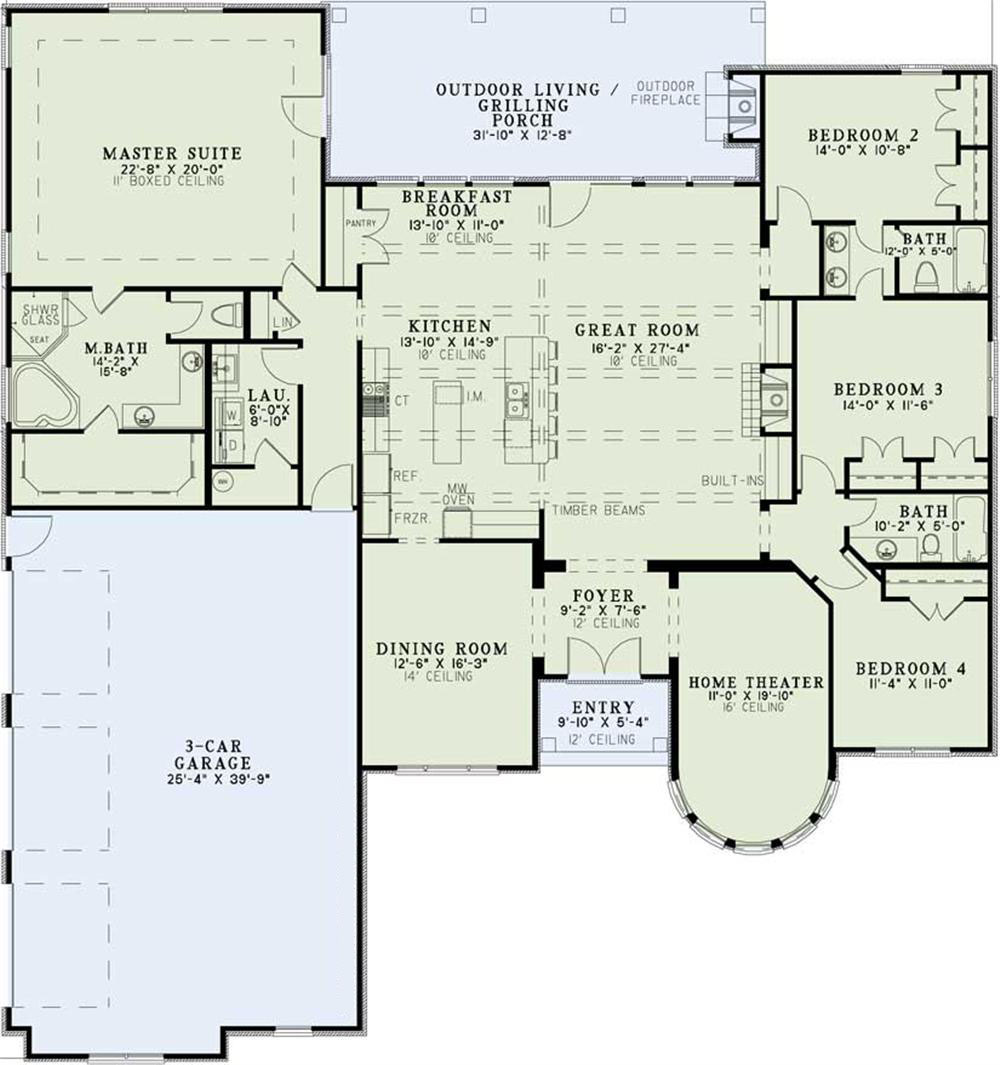 Home Plan # 153-1359 The Plan Collection