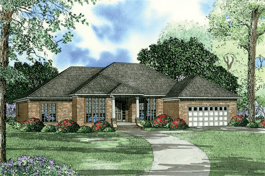 3-Bedroom, 2216 Sq Ft Prairie House Plan - 153-1360 - Front Exterior