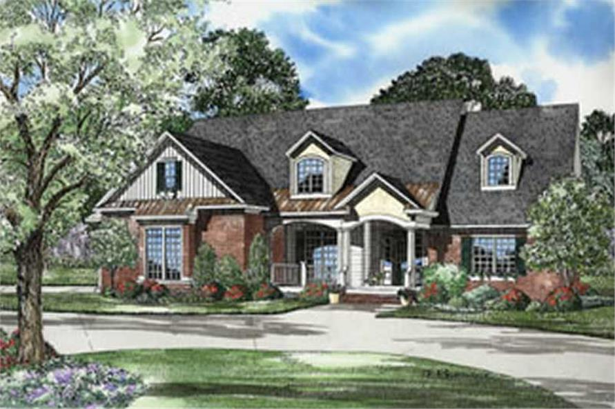 5-Bedroom, 2975 Sq Ft French House Plan - 153-1361 - Front Exterior