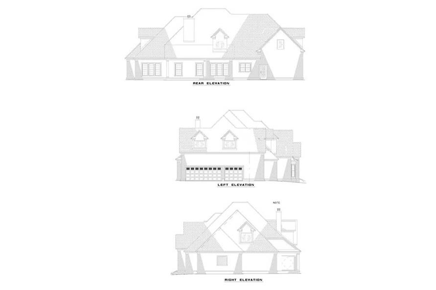 EXTERIOR ELEVATIONS of this 4-Bedroom,4488 Sq Ft Plan -4488