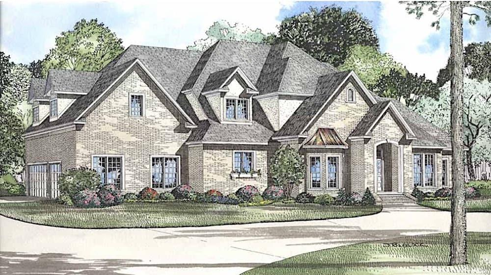 Luxury home (ThePlanCollection: Plan #153-1365)