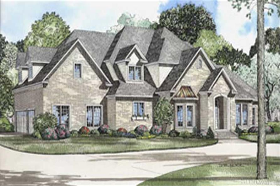 #153 1365 · 4 Bedroom, 4488 Sq Ft Luxury House Plan   153 1365   Front