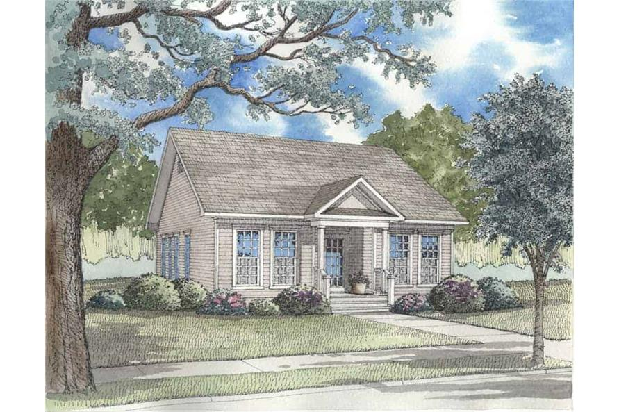 3-Bedroom, 1260 Sq Ft Country Home Plan - 153-1367 - Main Exterior