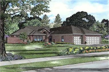 4-Bedroom, 3438 Sq Ft Contemporary Home Plan - 153-1369 - Main Exterior