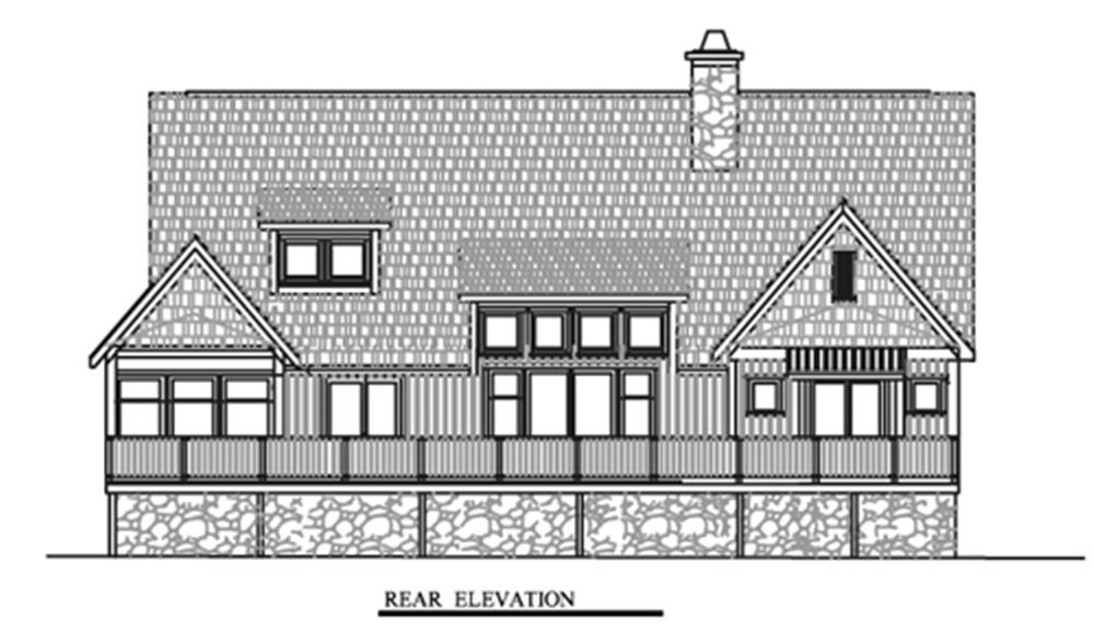 153-1372 house plan rear
