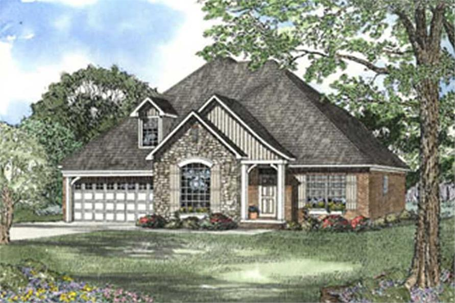 4-Bedroom, 2290 Sq Ft Country Home Plan - 153-1376 - Main Exterior