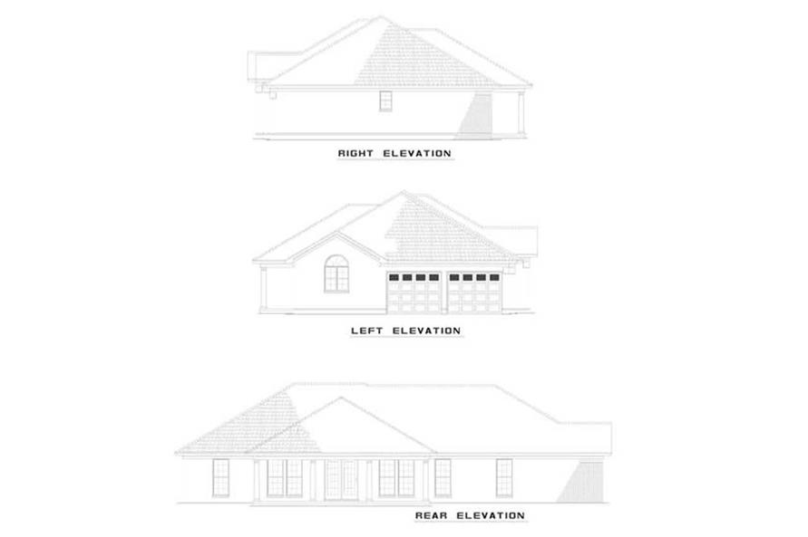 Home Plan Rear Elevation of this 4-Bedroom,1913 Sq Ft Plan -153-1377