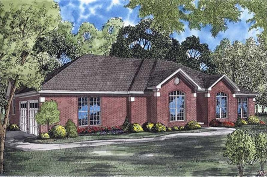 4-Bedroom, 1913 Sq Ft Ranch House Plan - 153-1377 - Front Exterior