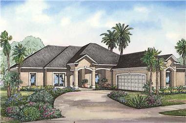 4-Bedroom, 2501 Sq Ft Coastal Home - Plan #153-1378 - Main Exterior