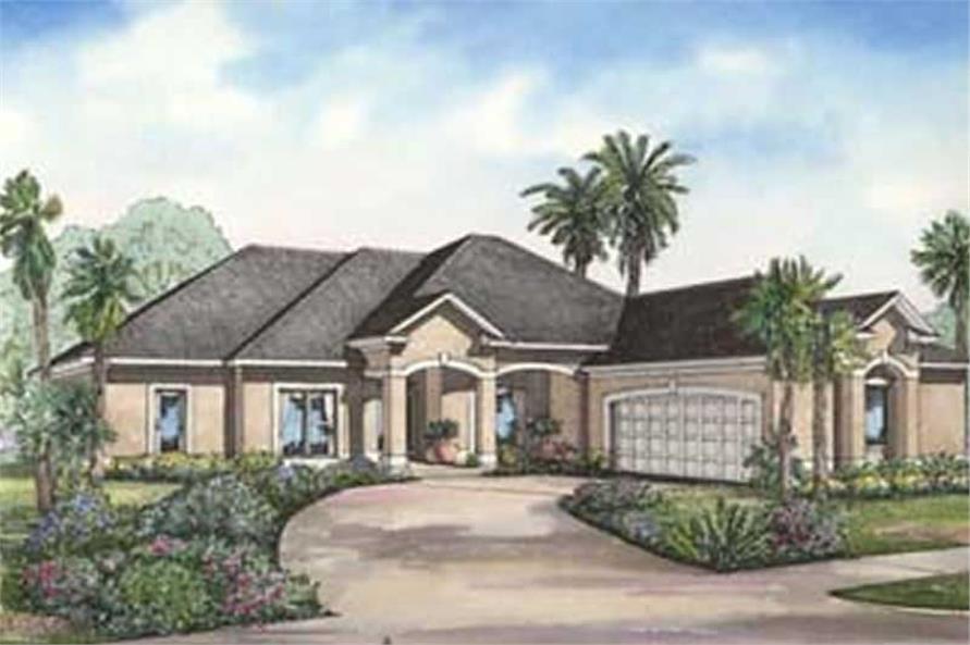 4-Bedroom, 2501 Sq Ft Coastal Home Plan - 153-1378 - Main Exterior