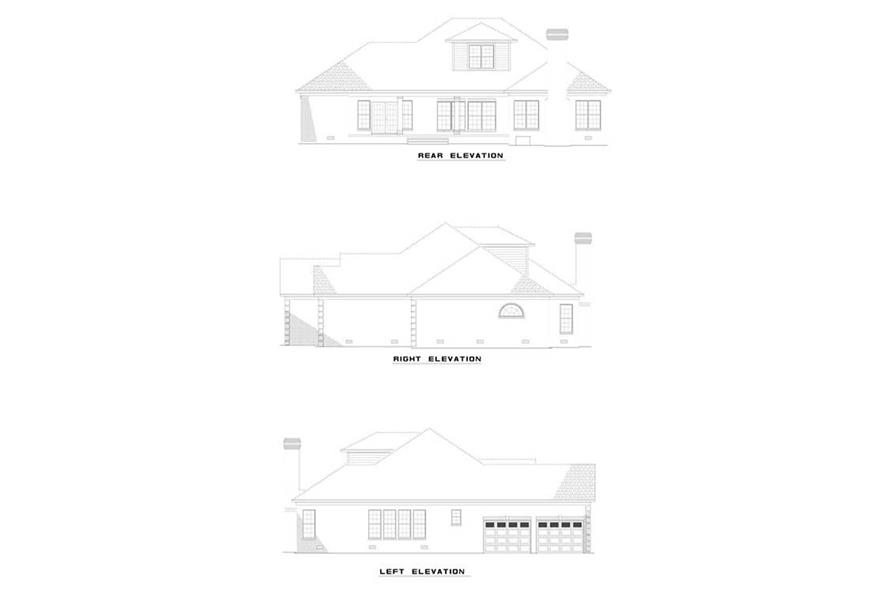 EXTERIOR ELEVATIONS of this 3-Bedroom,2760 Sq Ft Plan -2760