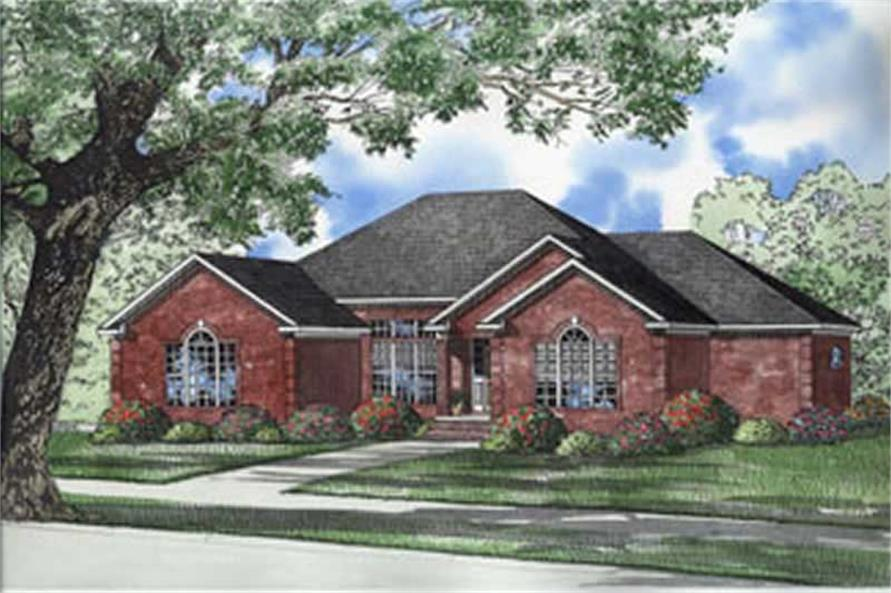 3-Bedroom, 2760 Sq Ft French House Plan - 153-1383 - Front Exterior