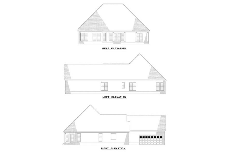 EXTERIOR ELEVATIONS of this 3-Bedroom,2211 Sq Ft Plan -2211
