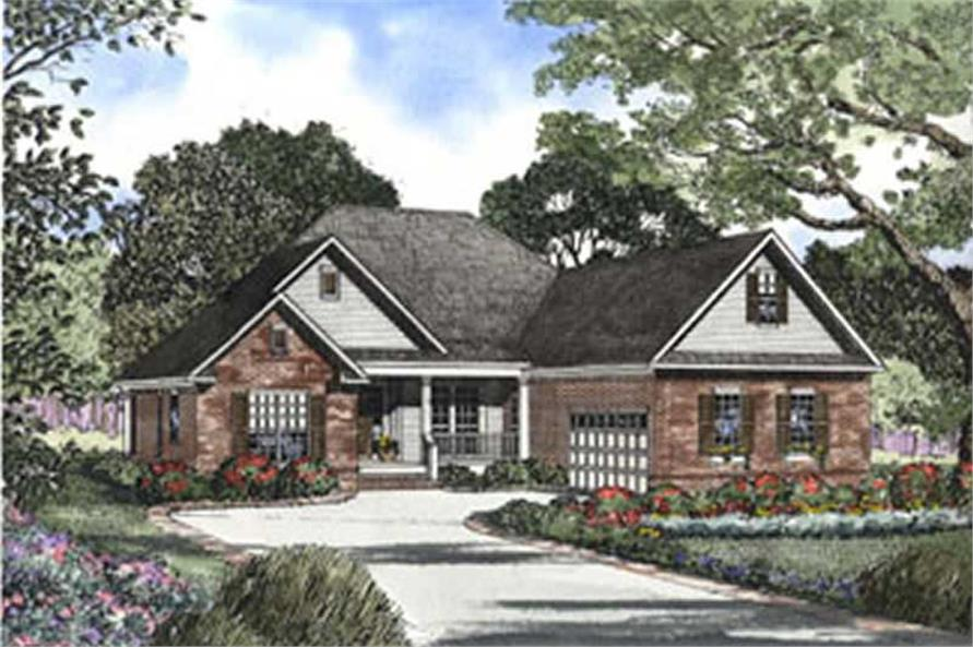 3-Bedroom, 2211 Sq Ft Southern Home Plan - 153-1384 - Main Exterior