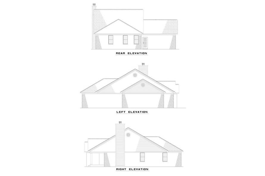 EXTERIOR ELEVATIONS of this 3-Bedroom,1294 Sq Ft Plan -1294