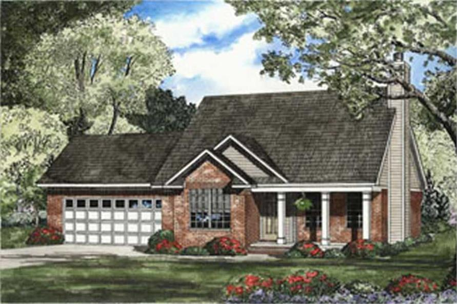 3-Bedroom, 1294 Sq Ft Country Home Plan - 153-1386 - Main Exterior