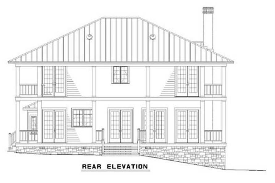 Home Plan Rear Elevation of this 3-Bedroom,3060 Sq Ft Plan -153-1387