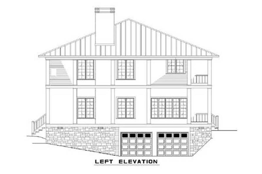 Home Plan Left Elevation of this 3-Bedroom,3060 Sq Ft Plan -153-1387