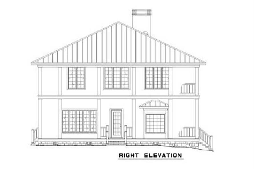 Home Plan Right Elevation of this 3-Bedroom,3060 Sq Ft Plan -153-1387