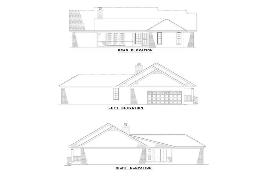 EXTERIOR ELEVATIONS of this 3-Bedroom,2263 Sq Ft Plan -2263