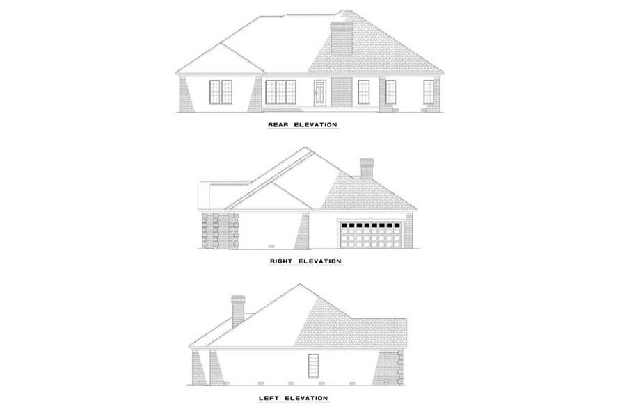 EXTERIOR ELEVATIONS of this 4-Bedroom,2540 Sq Ft Plan -2540