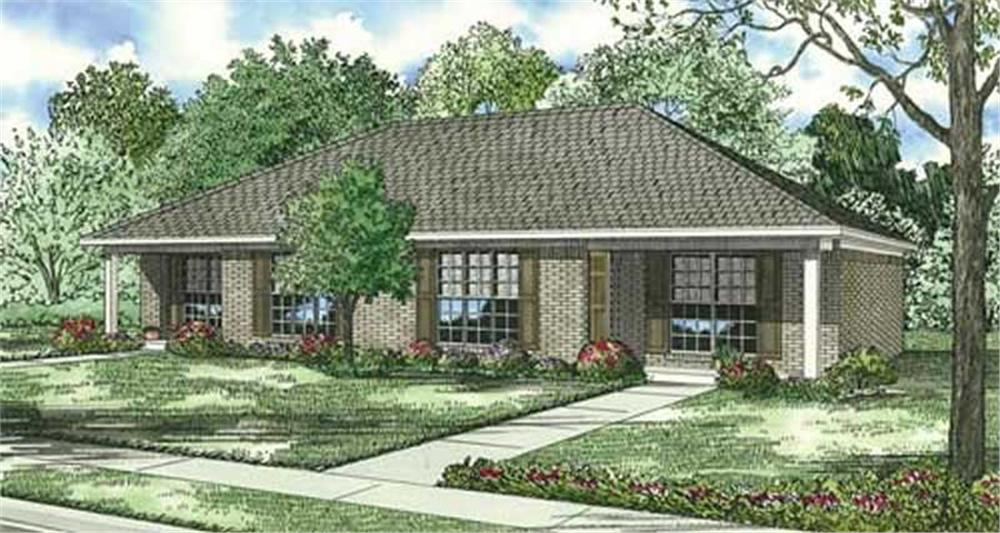 Main image for house plan # 3820