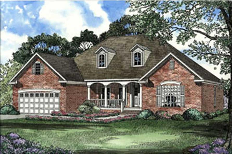 4-Bedroom, 1880 Sq Ft Country House Plan - 153-1392 - Front Exterior