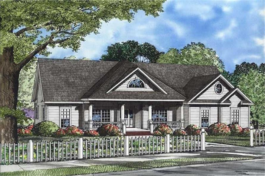 3-Bedroom, 2163 Sq Ft Ranch Home Plan - 153-1394 - Main Exterior