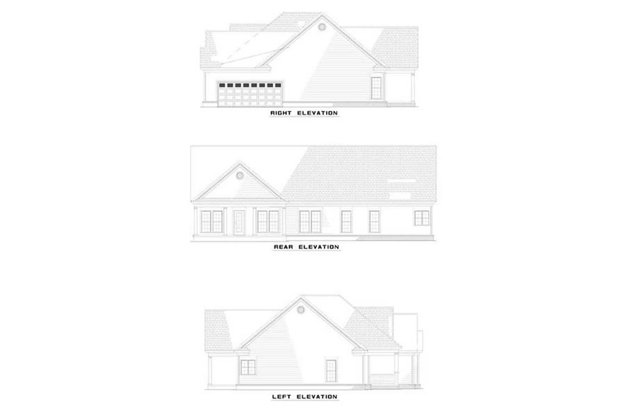 Home Plan Rear Elevation of this 3-Bedroom,2163 Sq Ft Plan -153-1394