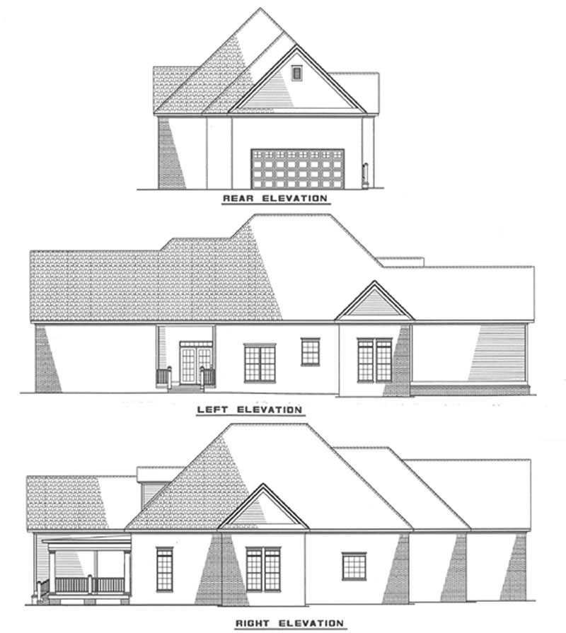 Southern Traditional House Plans Home Design Ndg 314 3487